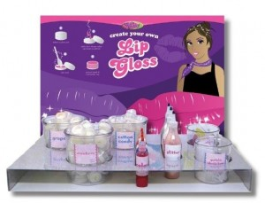 Club Tabby lip gloss display