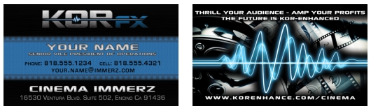 KOR-fx business card design