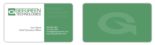 Seegreen Technologies business bards