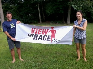 View The Race vinyl banner
