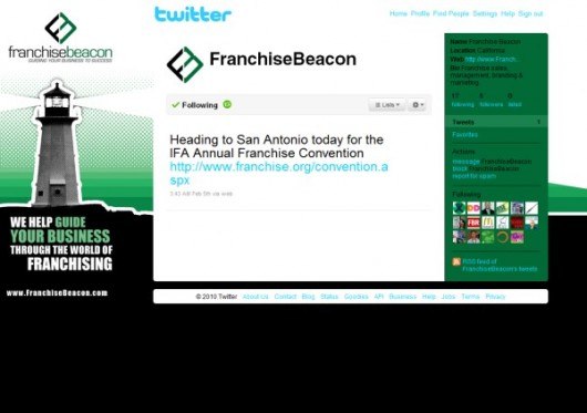 Franchise Beacon Twitter account design